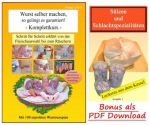 Wurstbuch mit Bonus